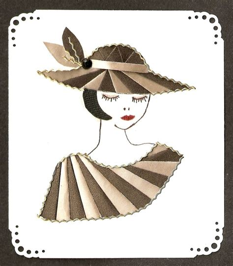Folding Paper Hats - hat card iris folded scrapbook paper iris