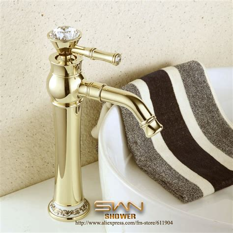 gold color bathroom faucets luxury 12 quot gold color bathroom faucet bath bar vessel