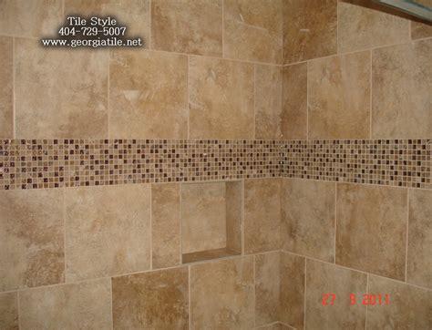 bathroom travertine tile design ideas shower tub tile designs shower niche corner shelf glass