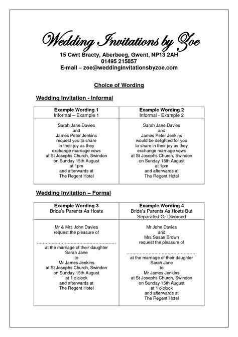 Unique Wedding Invitation Verbage by Informal Wedding Invitation Wording Search