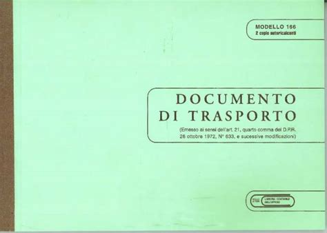 libreria giuridica bergamo documento di trasporto 2 copie in catalogo documenti di