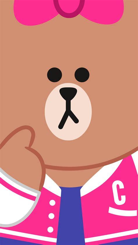 wallpaper cartoon line wallpaper line friends pinterest bears and