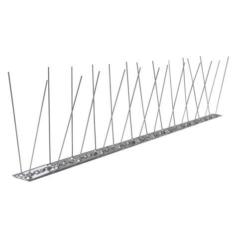 Set Avian Chenel vidaxl co uk 2 row stainless steel bird pigeon spikes set of 6