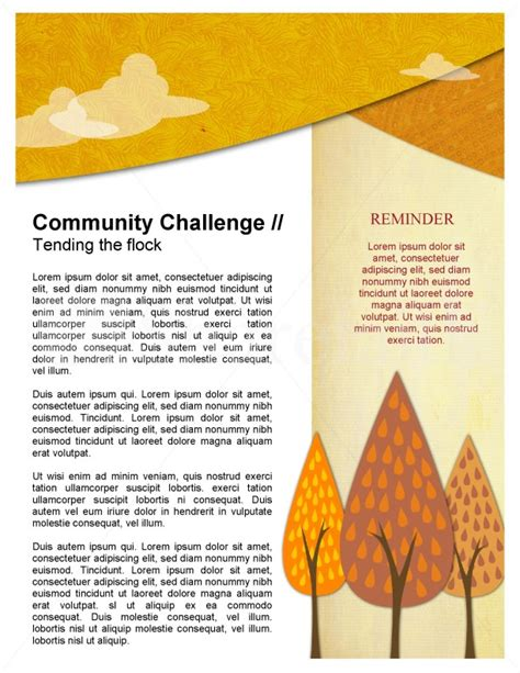 fall forest newsletter template template newsletter