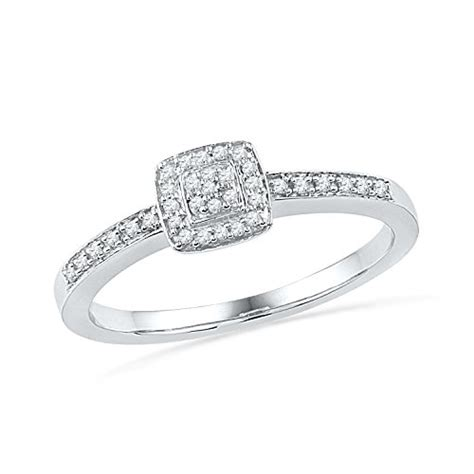 sterling silver promise ring 0 12 cttw