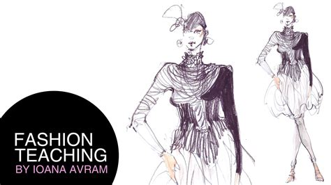 Sketch Design Online How To Draw Fashion Sketches Youtube