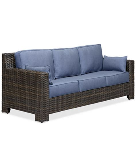 outdoor wicker sofas viewport wicker outdoor sofa furniture macy s