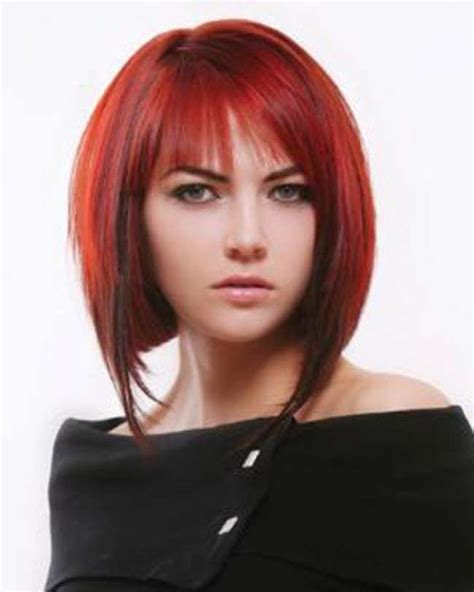 hairstyles with the color red shoulder length hairstyles 2014