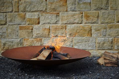corten pit corten steel pit bowl burners adezz rustic landscape south east by the pot company