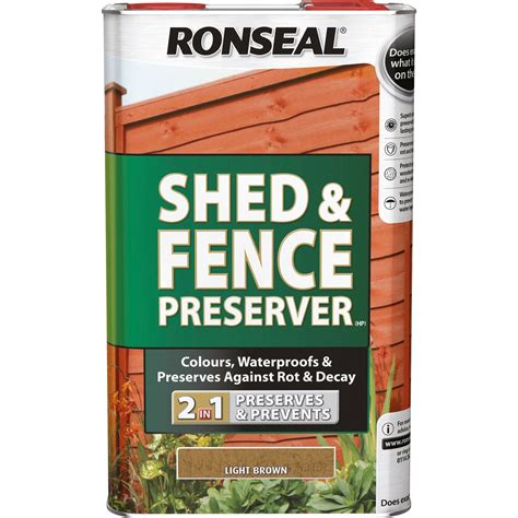 ronseal 1 coat mountain blue satin shed fence stain with