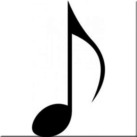imagenes siluetas musicales silueta nota musical corchea