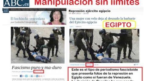 imagenes falsas venezuela medios derechistas y su ca 241 a de odio en venezuela