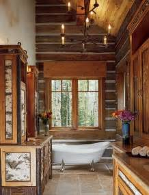 rustic log home bathroom cabin fever