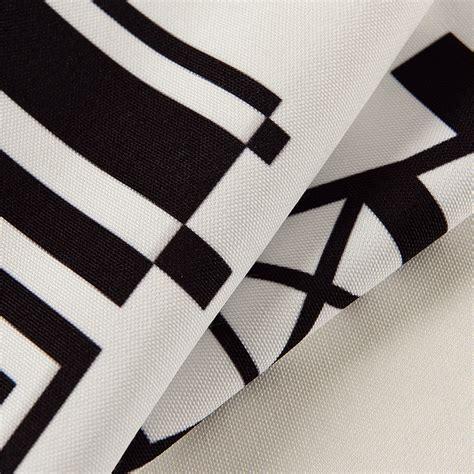 black and white color block curtains high end curtains window drapes custom curtains sale