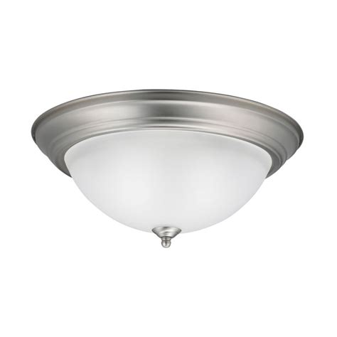 kichler 8116ni brushed nickel 3 light outdoor flush mount