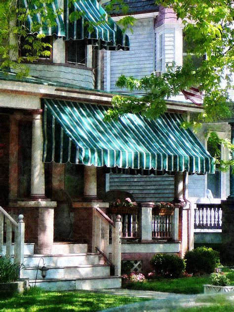 striped awnings just because green blue agentofstyle