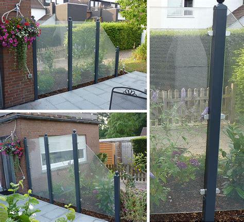 terrasse zaun z 228 une und sichtschutz deimel garten und landschaftsbau