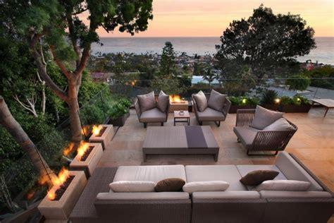 feuerschale dachterrasse terrasse und balkon mit pflanzen und blumen gestalten