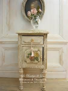 bedside shabby chic french dollhouse furniture by atelierdelea