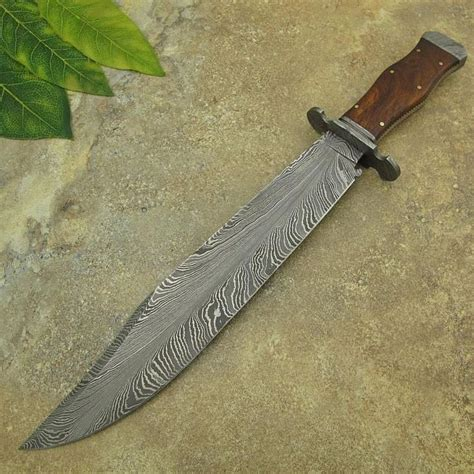 pattern in knife michael cody s custom handmade feather pattern damascus