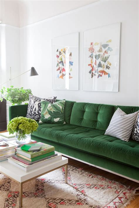 Green Sofa Living Room by The Great Green Sofa