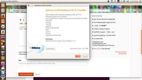 how to install netbeans in ubuntu how to install netbeans 8 1 in ubuntu 15 10 ask ubuntu