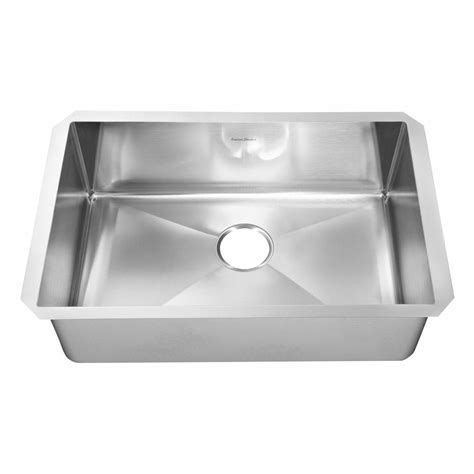 Steel Kitchen Sinks Kohler Prolific Undermount Stainless Steel 33 In Single Basin Kitchen Sink Kit With Accessories