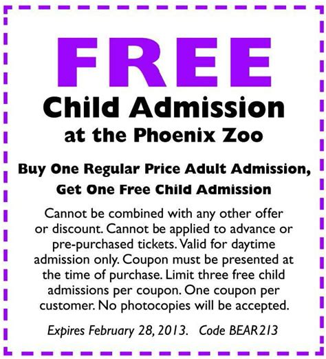 discount vouchers zoo 17 best images about phoenix zoo coupons on pinterest 18