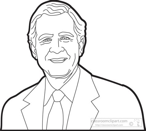 George W Bush Coloring Page by Romney Vs Obama Coloring Pages Sketch Coloring Page