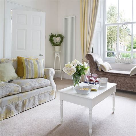 white and pale yellow living room living room decorating