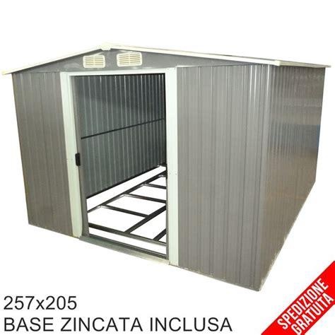 casette in legno porta attrezzi da giardino casetta porta attrezzi da giardino in lamiera grigia 257x205