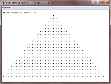 triangle pattern in java using while loop java program to print star pyramid patterns