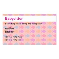 babysitting business card babysitting business cards zazzle