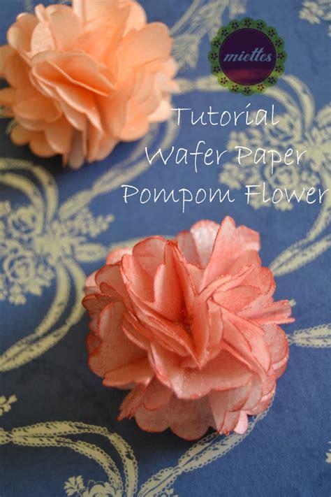 wafer flower tutorial wafer paper pompom flower tutorial cakesdecor
