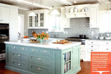 Kitchens With Different Colored Islands by Colored Kitchen Cabinets