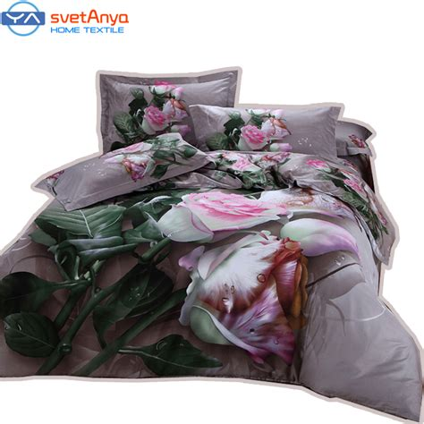 100 Cotton Roses Bedding Quilt by Buy 3d Pink Flowers Bedding Sets King Size 100