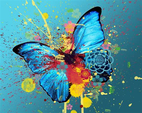 colorful butterfly abstract wallpaper abstract graphic