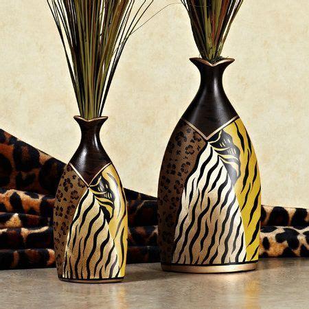 Animal Print Vase by Safari Animal Print Table Vase Set Multi Earth Set Of Two