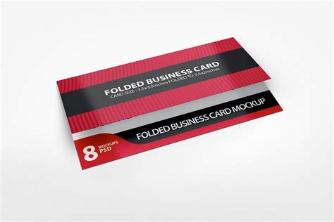 folded business card template photoshop folded business card mockup v3 by idesignstudio net