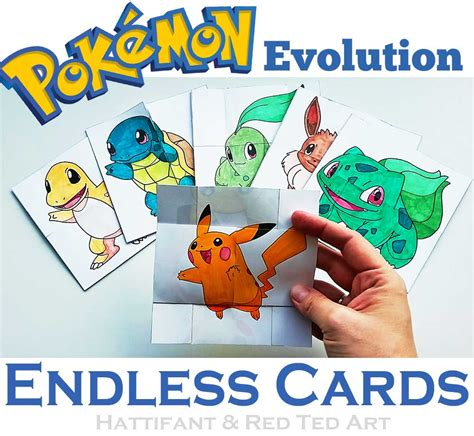 Papercraft Cards - paper toys evolution endless cards hattifant