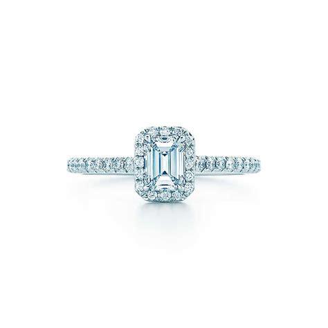 tiffany wedding ring emerald tiffany soleste emerald cut the engagement ring
