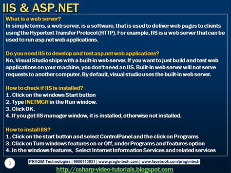 Tutorial Asp Net Iis | sql server net and c video tutorial part 9 iis asp net