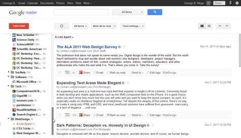 design google reader fors my compact style for google reader
