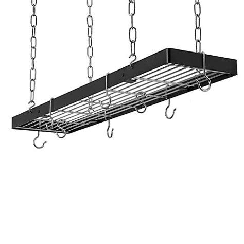 buy rogar hanging rectangular pot rack from bed bath beyond