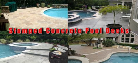 Stamped Concrete NH MA ME Decorative Patio Pool Deck WalkwayNH Pool Coping Ideas MA ME Best