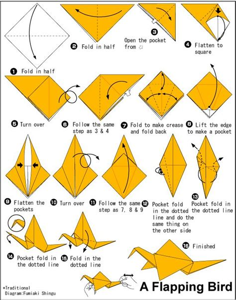 Origami Flapping Swan - best 25 origami flapping bird ideas on