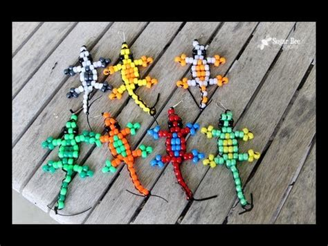 how to make things out of pony pony bead lizard tutorial