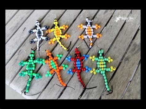 lizard made out of pony bead lizard tutorial