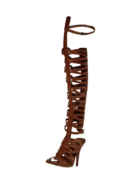 where can i buy knee high gladiator sandals buy no doubt knee high heeled gladiator sandals for