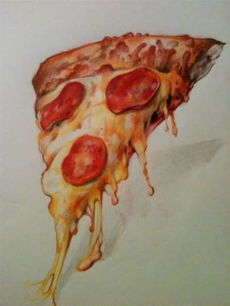 35 pizza tattoo designs and images